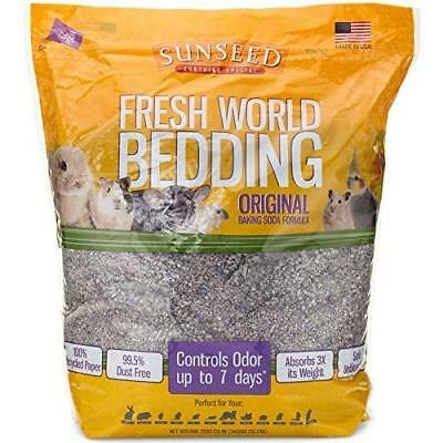 SunSeed Fresh World Bedding Paper Based Litter Small Animal Gray 9 lbs