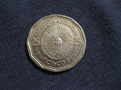 """1964 to 1967  Argentina 25 Peso coin  """"SUNFACE"""",   AU to BU,  sweet coins"""