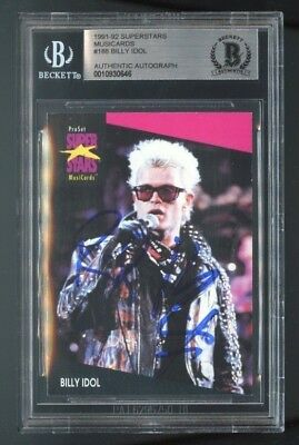 Billy Idol signed trading card BAS Authenticated musician singer songwriter