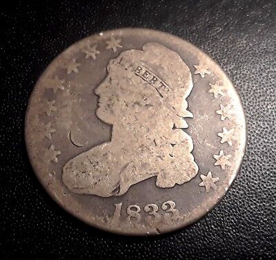 1833 capped bust half Dollar,Rare Date SILVER