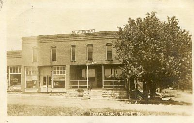 1913 Real Photo Postcard RPPC-Central Hotel in McFall, MO