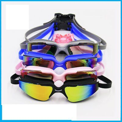 Large Frame Adult Anti-fog Waterproof UV Protection Swimming Goggles Glasses Z1