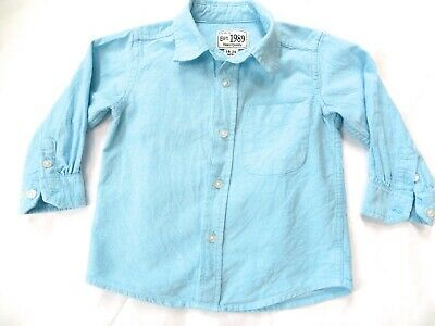 Place baby boys 18-24M long sleeve blue button down shirt