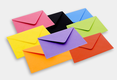 Quality C7 Coloured Envelopes For A7 Mini Card RSVP Wedding 81x113mm FREE POST