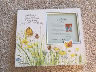 Marjolein Bastin 'Nature's Sketchbook' Butterfly & Flowers 4 x 4 Photo Frame