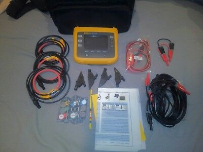 Fluke 1730 Three Phase Energy Logger KIT 3 iFlex 1500-12 & Leads NEW Demo Model