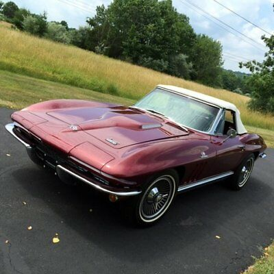 1966 Chevrolet Corvette 427/425 HP Roadster RECENTLY RESTORED WITH CORRECT NUMBERS -READY TO ENJOY! 1964 1965 1967