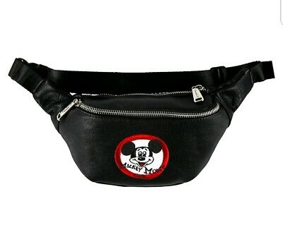 Disney Parks Iconic Mickey Mouse Club Hip Pack Loungefly Fanny Pack Zipper