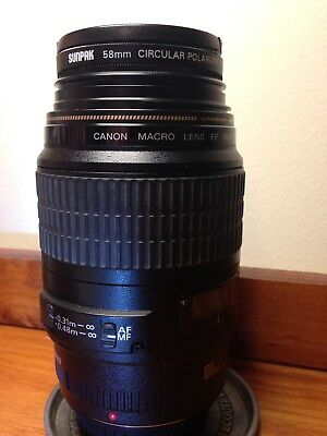 CANON EF 100mm f/2.8 Macro USM Lens Excellent Condition!!