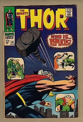 Thor #141 (Marvel, June 1967) Silver Age - Jack Kirby Classic! 1st Replicus