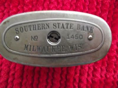"Vintage ""The Traveling Teller Bank""""Southern State Bank, Milwaukee, Wisc. #1450"
