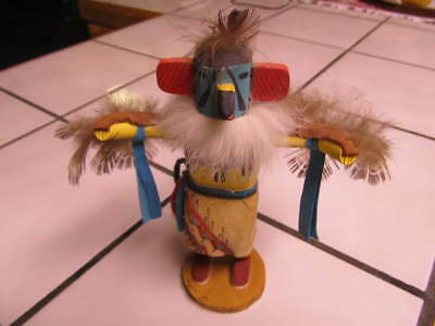 """Vintage 6 1/2 Inch Mini  """"eagle"""" Signed Kachina Doll (98) - Excellent Condition"""