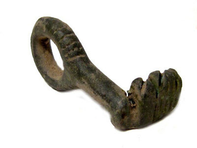 HIGH QUALITY RARE ROMAN Bronze KEY+++TOP CONDITION AND DECORATION+++