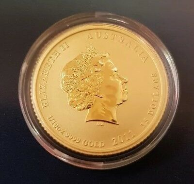 2011 Gold 1/10th Oz. Year of the Rabbit Lunar Coin