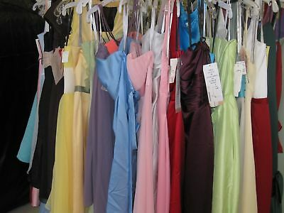 Lot of 10 Bridesmaid dresses*Assorted colors & sizes*Beautiful* Free Shipping