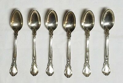 6 Vintage GORHAM Sterling Silver Small Spoons, Chantilly Pattern