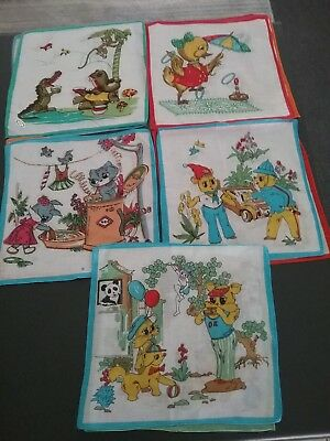 "Printed Childrens Hankies"" Cotton""..Assorted Designs..total of 10 ..pack"