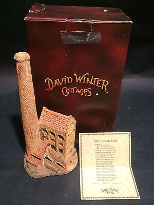 1983 Cotton Mill David Winter Cottages Hand Made & Painted England w/ COA in Box