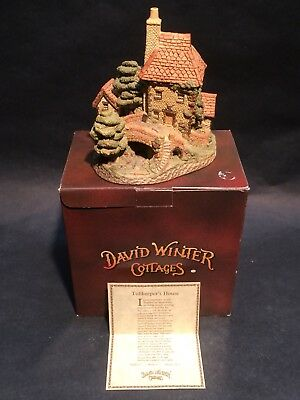 1984 Tollkeeper's Cottage David Winter Cottages Hand Made&Painted w/ COA in Box