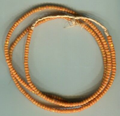African Trade beads vintage Venetian old glass striped seed beads