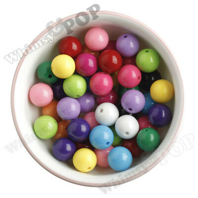 16mm Colorful Chunky Bubblegum Beads, Round Acrylic Beads, Colorful Beads - USA