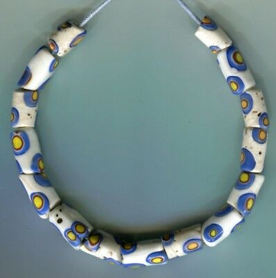 African Trade beads Vintage Venetian old glass beads matched millefiori