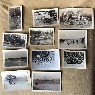 Vintage Original INDIAN Motorcycle Race Old Photographs Photos Pictures