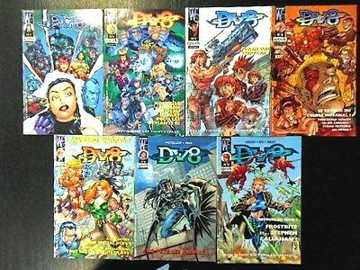 Lot De 7 Comics Dv8 N° 2.4.5.6.7.8.9 + Poster Attache D'origine