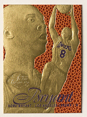 Kobe Bryant 23K Gold Rookie Card Nba Feel The Game Lakers Yellow Home Edition