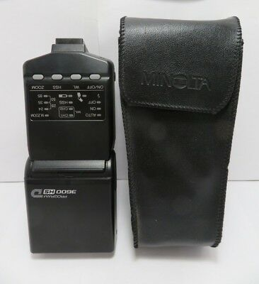 Near Mint - Minolta Program 3600 HS D Speedlight Flash