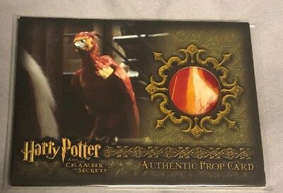 Harry Potter COS Fawkes Feathers Prop Card P4