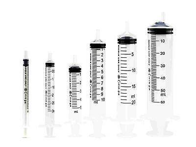 GIFT Disposable Plastic Syringe Assorted Size 1 X 1ml 1 X 3ml 1 X 5ml 1 X 10ml 1