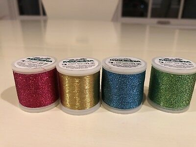 Metallic Madeira Embroidery Thread, No.40, 4 New Spools