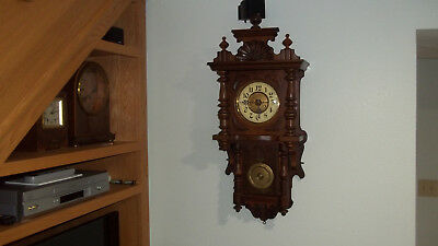 Fully & Properly Restored Junghans German Made Time & Strike Balcony Clock