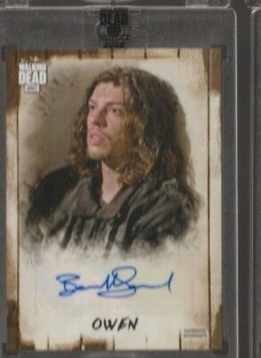 2018 Topps Amc Walking Dead Benedict Samuel As Owen Auto /79