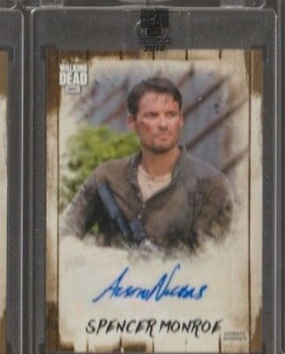 2018 TOPPS AMC WALKING DEAD AUSTIN NICHOLS as SPENCER MONROE AUTO /58