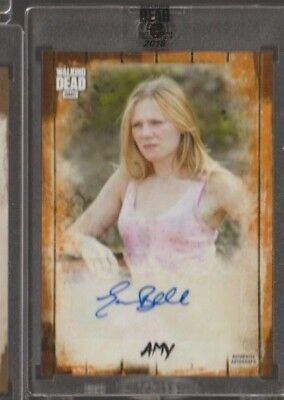 2018 TOPPS AMC WALKING DEAD EMMA BELL as AMY AUTO /50
