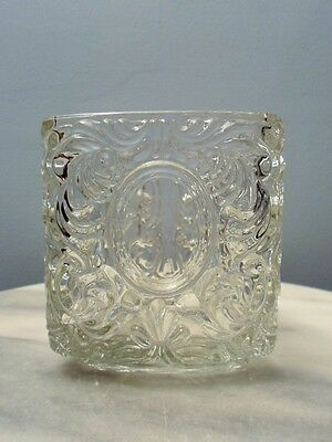 "Vintage Avon Glass Triangle Vase Candle holder Candy dish 4.5"" x 4"" Heavy"