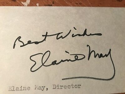 """Elaine May Autograph, Screenwriter Partner Of Dir Mike Nichols, """"The Birdcage"""""""