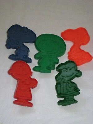 Lot of 5 PEANUT CHARACTERS Cookie Cutters  Snoopy Lucy Charlie Brown