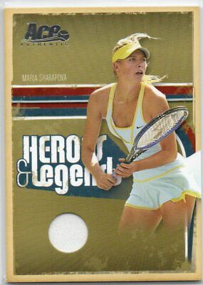 Maria Sharapova 2005 Ace Authentic Heroes & Legends Game Used Material Card /500