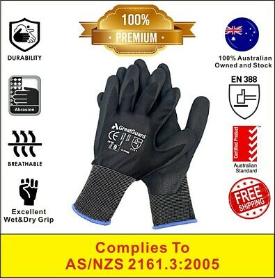 24 Pairs Safety Work Gloves Sandy Nitrile Foam Hand Protection