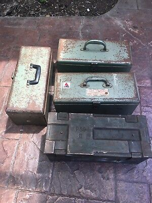 WWII Ammunition And Rita Tool  boxes
