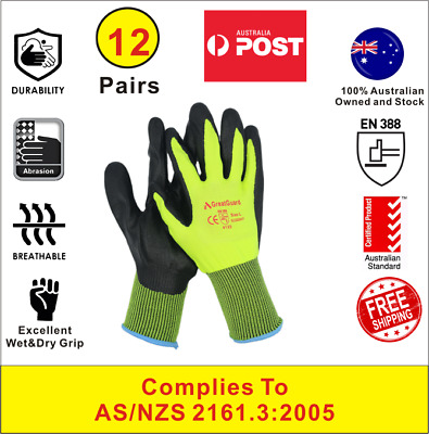 Work Gloves Foam Nitrile Coated Safety General Purpose Garden 12 Pairs