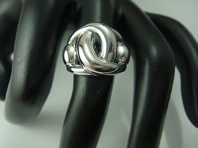 Sleek Milor Italy Bronze Silver Tone Knot Ring Size 6.75