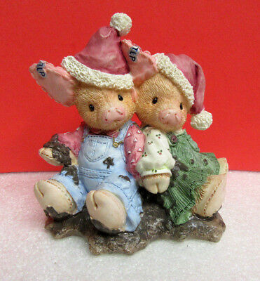 This Little Piggy WE SQUISH YOU A MERRY CHRISTMAS TLP Pig Enesco Figurine