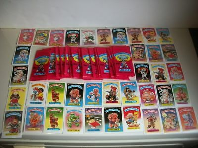 1985 garbage pail kids mini UK lot of 37 cards and Original Wrappers lot