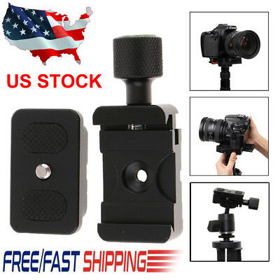 Universal Fast Loading Quick Release Plate Base QR Clamp for DSLR Camera Tripod