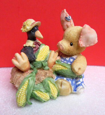 This Little Piggy NOTHIN' CORNY BOUT YOU AND ME TLP Pig Enesco Figurine