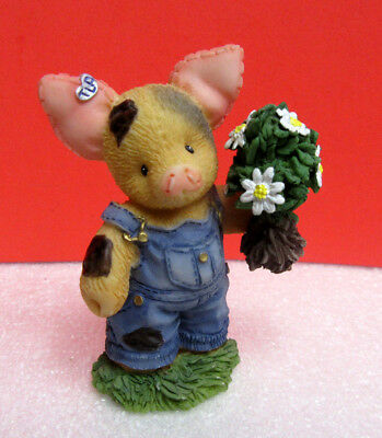 This Little Piggy I PICKED THESE FOR YOU MOO-MY TLP Pig Enesco Figurine